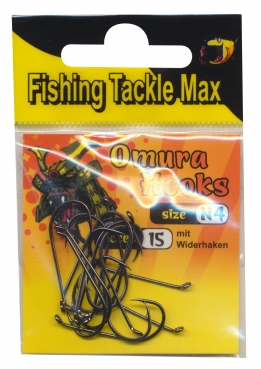 FTM Fishing Tackle Max Omura Hooks Nymph mit Widerhaken Gr. N 4 8380504