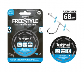 Spro Freestyle Reload Drop Shot Rig 0,22mm #8 68cm 3,53kg 4590013 Fluocarbon Fluorocarbon Vorfach